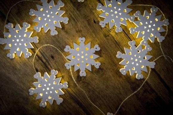 SNOWFLAKE battery fairy lights