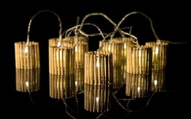 BAMBOO lantern fairy lights