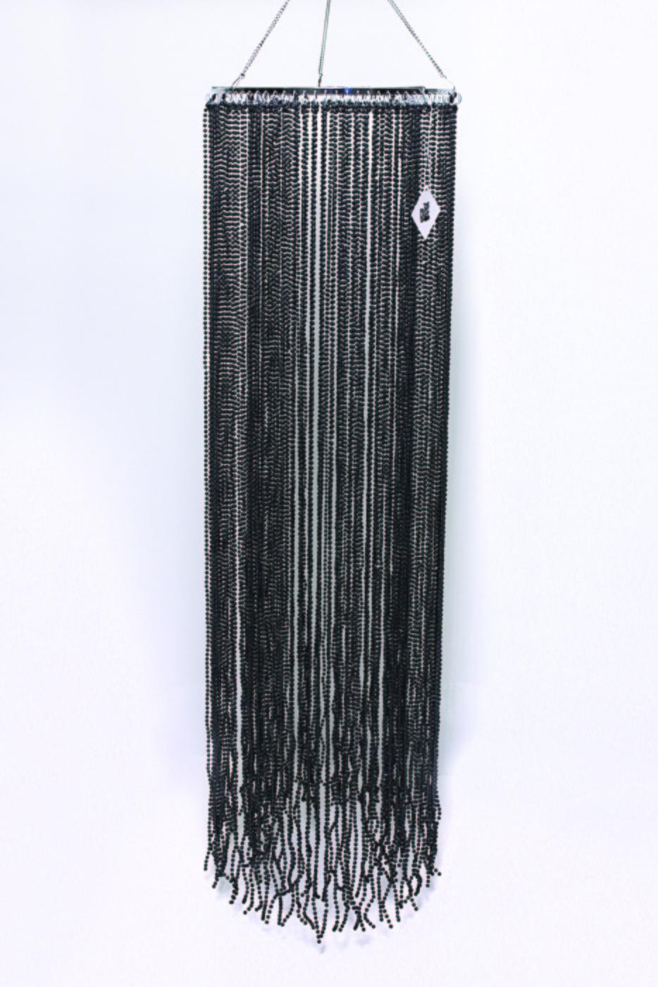 Chandelier lamp shade long black beaded black beaded lamp shade aloadofball Gallery