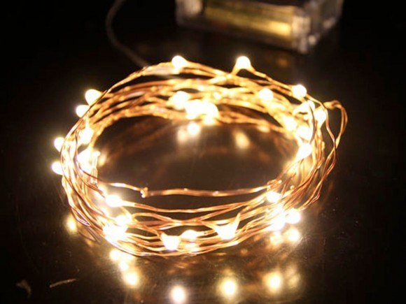 Copper seed fairy lights - battery operated
