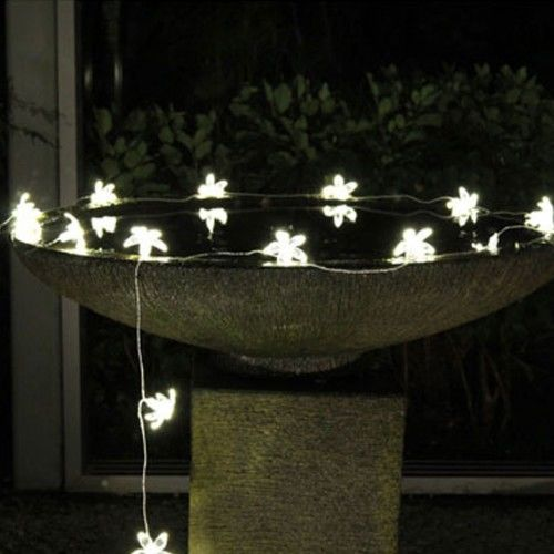 SOLAR fairy light flowers