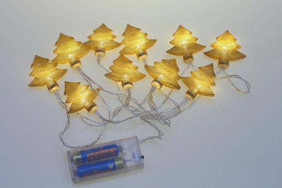 Gold tree battery fairy lights