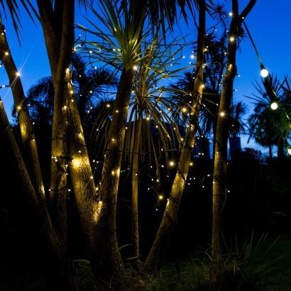 Outdoor fairy lights