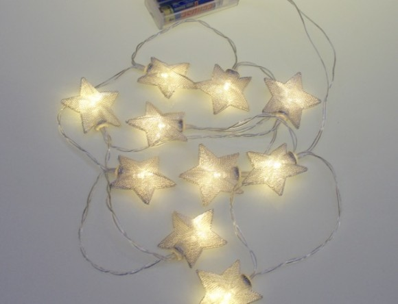 Silver star battery lights