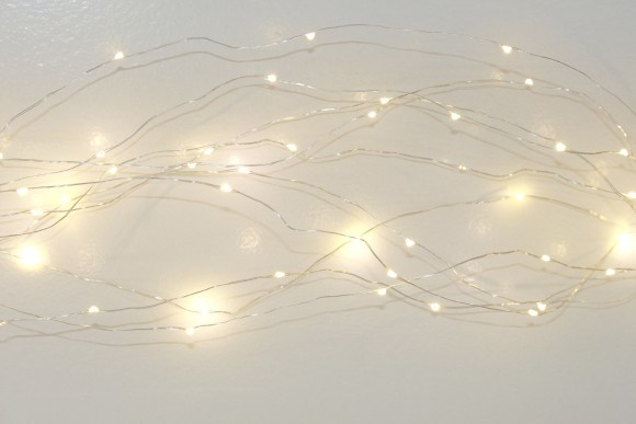 Cascading seed fairy lights
